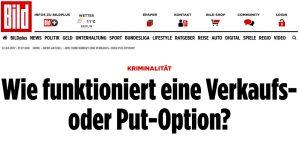 Bild Schlagzeile Optionen