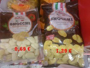 gnocchi billig teuer