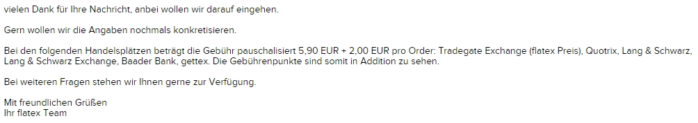 Flatex Preise