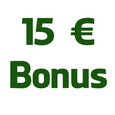 15€ bonus