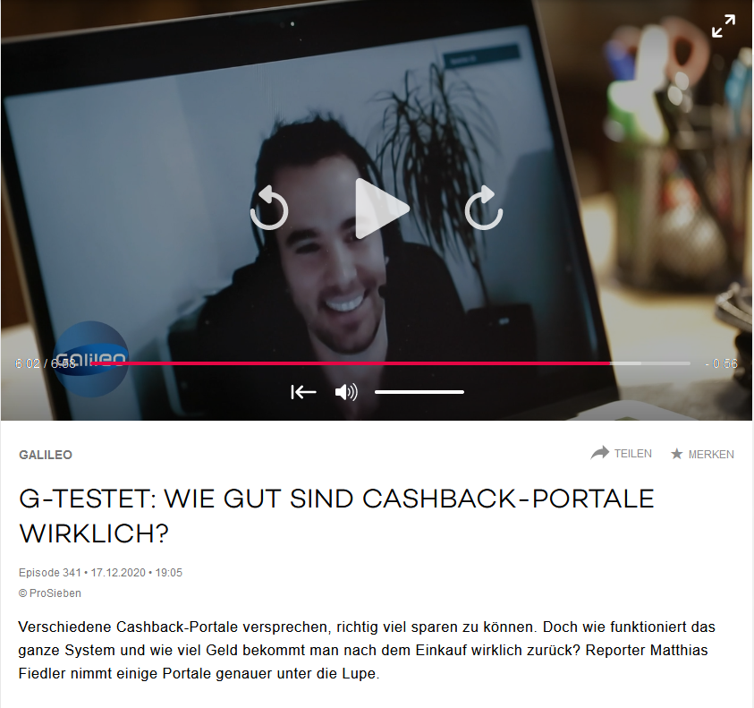 pro7 screenshot mediathek